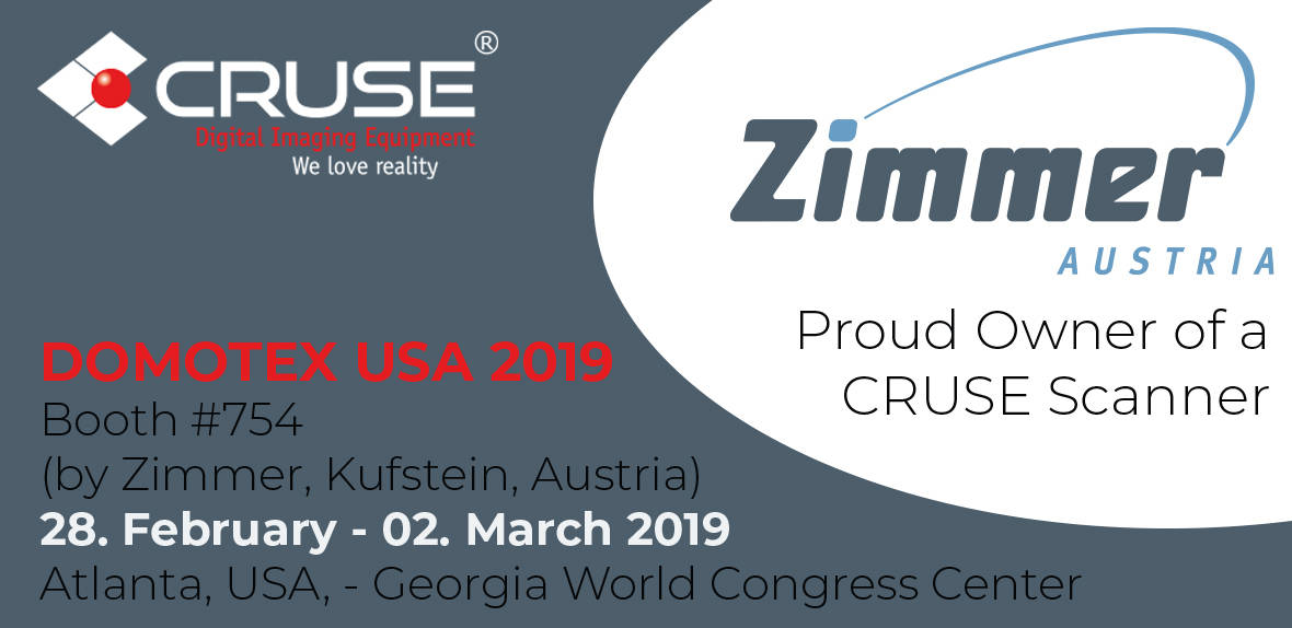 Visit our info point on the booth of the company Zimmer / Austria at Domotex USA 2019